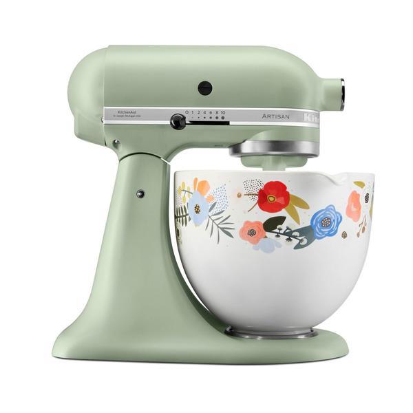 KitchenAid Artisan Stand Mixer Floral 5KSM156SFEPI Green